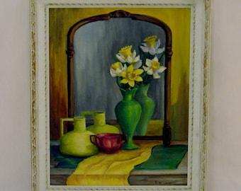 Gorgeous Floral Oil on Canvas Original Art