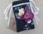 SALE Cell phone Case Dark Blue Cell Phone Case Handmade Blue Purple Phone Case/Bag.