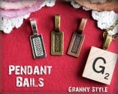 25 Glue On Bails - Jewelry Bails in Vintage Finishes