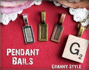100 Pendant Bails for Jewelry - Glue On Bails