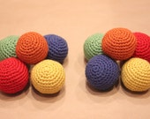 2 Sets Rainbow Crochet Balls and Monster Lovey RESERVED for Nicole