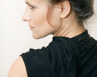 10% SALE Womens Clothing, Black Top, Women Tank Top