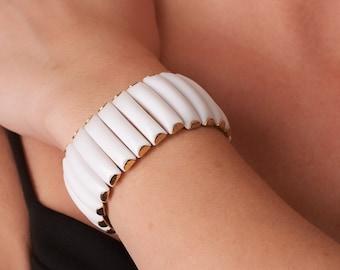 Vintage White Flex Bracelet