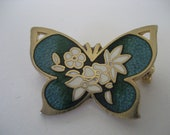 Sweet Enamel Butterfly Brooch