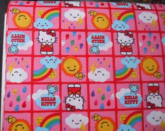 Hello Kitty Fabric 100% Cotton by the Fat quarter