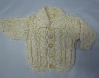 Free Knitting Pattern Baby Aran Cardigan : BOYS CARDIGAN KNITTING PATTERN   Patterns Gallery