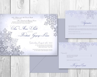 WEDDING INVITATIONS Winter PRINTABLE - Winter wedding invitations