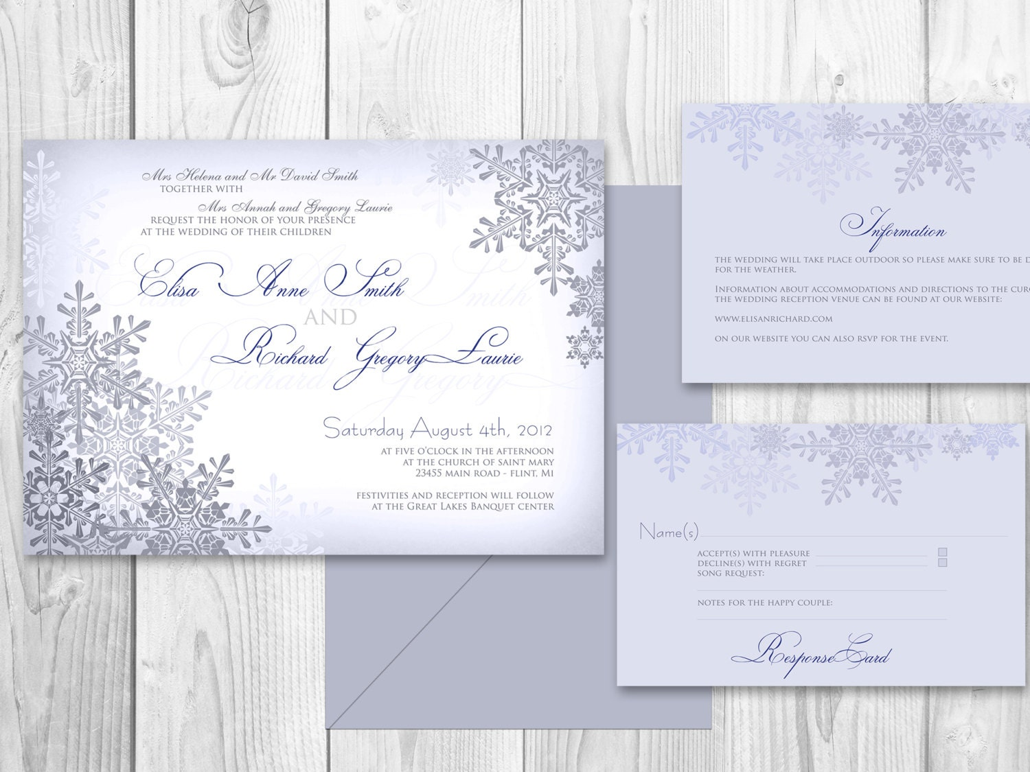 WEDDING INVITATIONS Winter PRINTABLE Winter by DesignedWithAmore