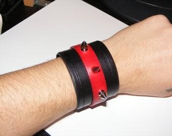 Leather Spiked Bracelet Model 5