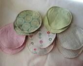Breast Nursing Pads Reusable Flannel Set of 10