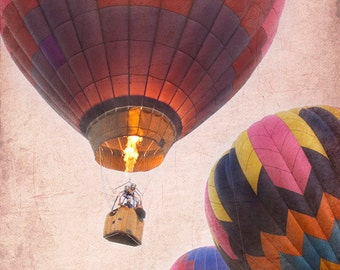 Pink Balloons, hot air balloons, fine art photograph