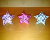 LARGE ORIGAMI STAR covered with rhinestones /