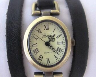 Handmade Oval Bracelet Wrap Bronze Watch - 2013 New Orlogin Style Design FREE SHIPPING