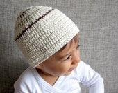 Hand crochet hat in organic cotton, hat for kids, Fall hat