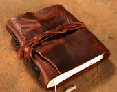 Leather Journal - Brown - 5x6 - Diary - Notebook - Sketchbook