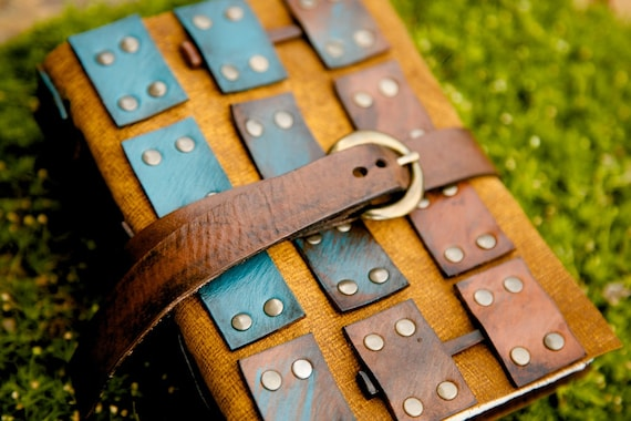 Leather Journal - Battle Armor - Braveheart  / 14th Century inspired - Notebook / Diary / Sketchbook