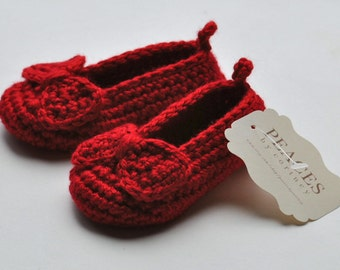 Ruby Red Slippers Baby Shoes -- infant shoes baby boots baby shoes baby slippers baby booty newborn gift babyshower pregnancy
