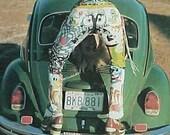 1975 American Denim book LEVIS JEANS HIPPIE folk art book