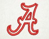 Alabama A, Applique A, Embroidery Design (51) Instant Download