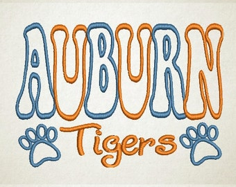 Auburn Embroidery Design, Auburn Applique, War Eagle (70) Instant Download