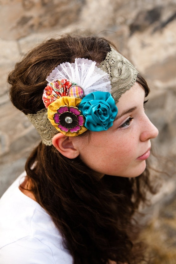 Colorful Teen Stock Image Image Of Lipstick Portrait: Colorful Bohemian Headband Adult Teen Or Tween By MyGenavie