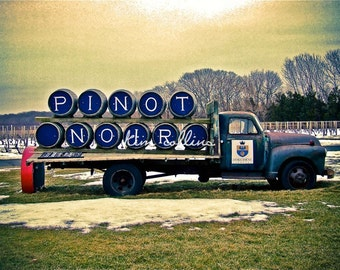 Pinot Noir Fine Art Photograpy, Long Island, New York, multiple sizes available-vintage,wine,vineyards,vino,truck,New York,Wall Art