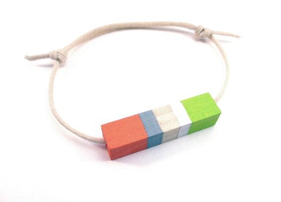Contemporary Wood Bracelet Prairie Spring Morning Totem Jewelry
