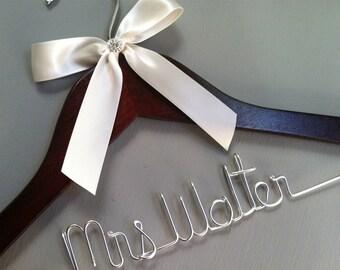 Personalized Bridal Wedding Hanger. Bridal Hanger.