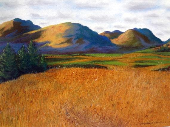 Adirondack Impression, Through the Marsh, 5 x 7 print on acid free 8.5 x 11, 65 lb. off-white matte, signed by me, carefully shipped flat.