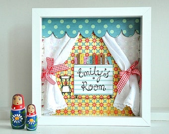 Made to order - customize with a name - kids' room