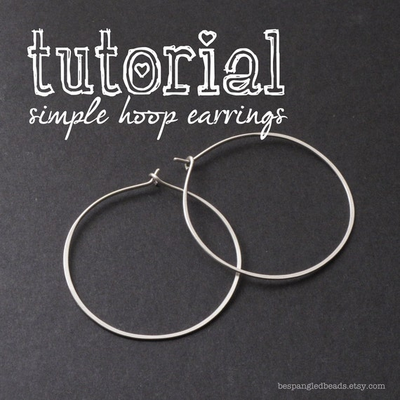 Wire Jewelry PDF Tutorial: How to Make Simple Wire Hoop