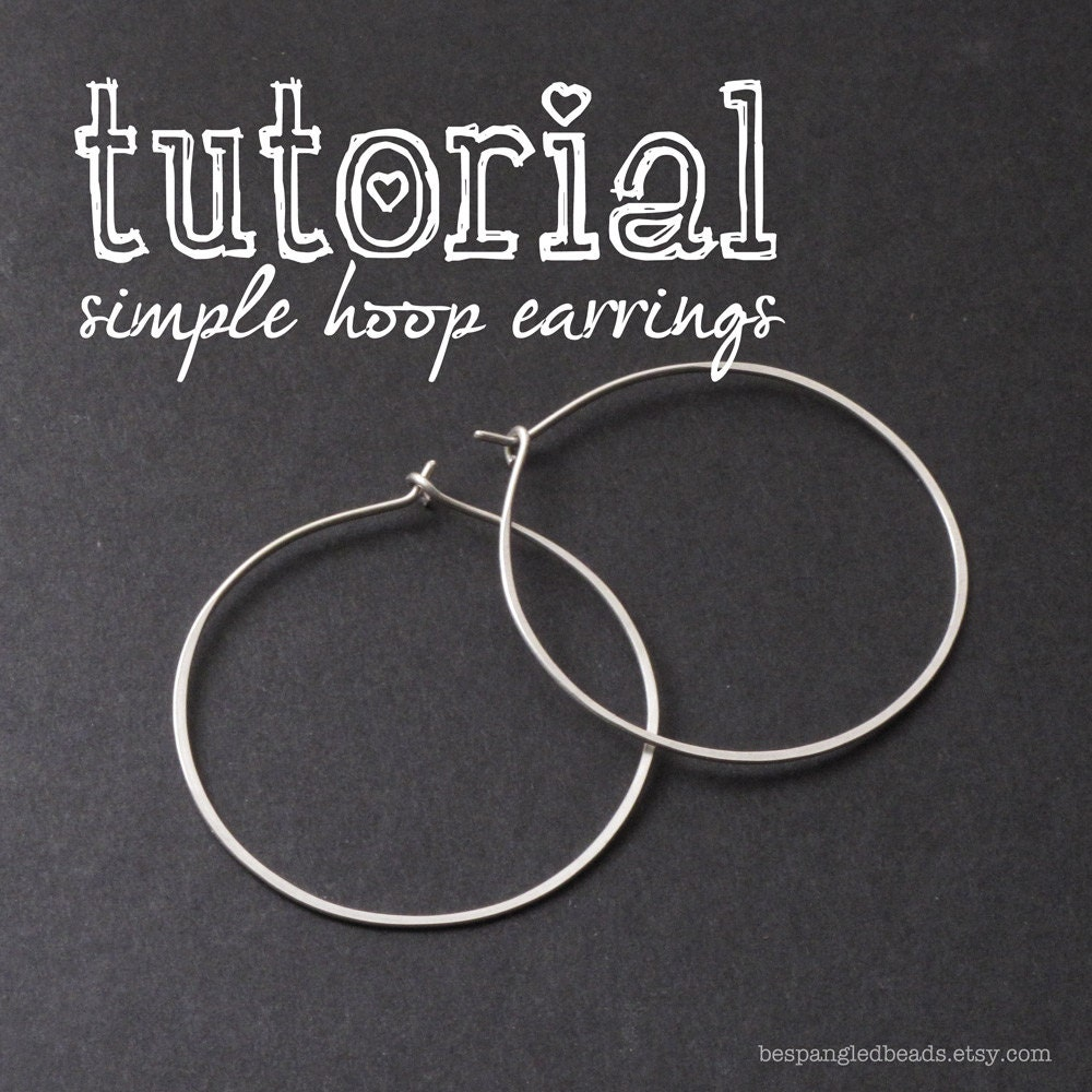 Wire Jewelry Pdf Tutorial How To Make Simple Wire Hoop