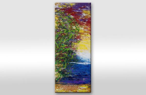 Large paintings on canvas Large vertical painting Large vertical art Long vertical painting Vertical artwork Large Long vertical wall art