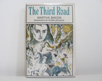 The Third Road by Martha Bacon Pictures by Robin Jacques 1971 Vintage Book - Three Children Time Travel on a Talking Unicorn
