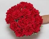 wedding bouquets, wedding flowers, bridal bouquets, paper flower bouquets, paper flowers, red rose bouquet, large rose bouquet