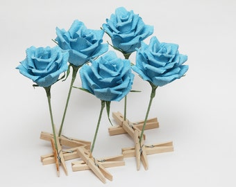 cake topper cake decoration 5 pcs wedding favor unique wedding favors birthday cake birthday cake topper flower cake topper turquoise roses
