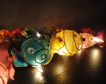 Unique animal string art related items etsy for Fish string lights
