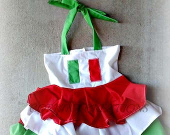 Italy, Italian Boutique Style OTT Ruffle dress sizes NB 3  6 9 12 24 months, size 2 3 4 5