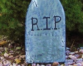 Outdoor Halloween Tombstone Lawn Decoration- Wooden and Handpainted