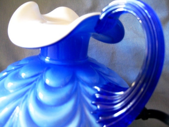 Gorgeous Fenton Art Glass ewer 9 inches of pure PERFECTION FREE ship to U S A