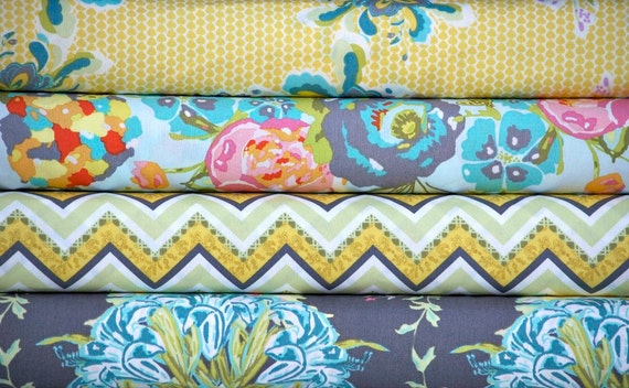 Lilly Belle Fabric Bundle -- Bari J Ackerman for Art Gallery Fabrics  -- 4 one yard pieces (Total 4 yards)