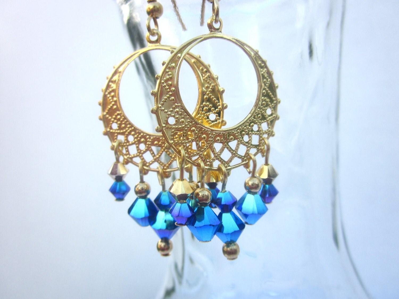sparkle chandelier earrings swarovski by