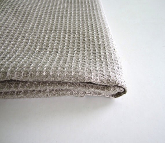 Natural linen waffle towel Waffle weave towel Linen towel Sauna towel Bath towel Linen bath sheet Organic linen towel