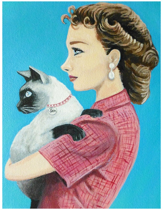 FOR BARBARA Evelyn and her Siamese cat