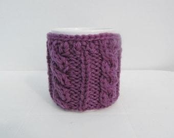 Knitted PurpleCup Cozy, Mug Cozy, Tea Purple Cup Cozy, Coffee Cozy