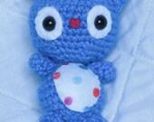 Identity Kitties: Polka Dot Kitty (Crocheted Stuffed Animal Toy)