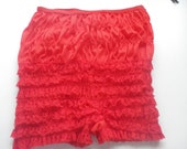 Ruffle red knickers vintage panties burlesque pin up free international posting shipping