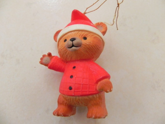 Teddy Bear in Pajamas and Nightcap Christmas Ornament