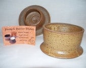 French Butter Dish, Sandstone Brown