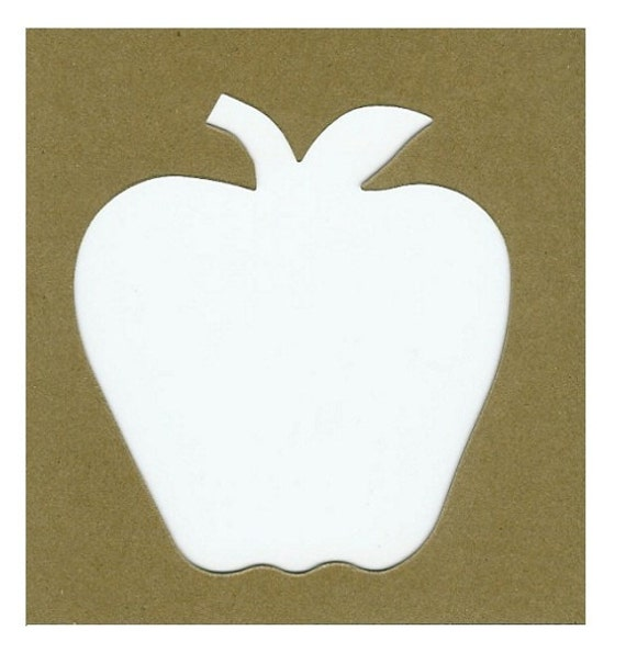 Apple stencil 5 for 40c each frame picking autumn for Large cardboard cut out numbers